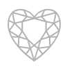 Heart shaped diamond homepage symbol