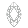 Marquise shaped diamond homepage symbol