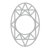 Oval shaped diamond homepage symbol